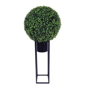 Buxus artificial rotund D36 cm pe suport 1
