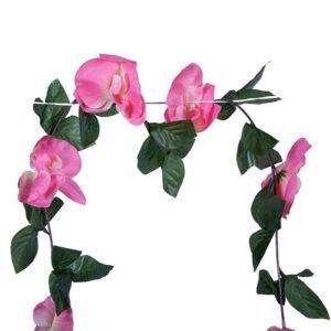 Ghirlanda orhidee roz 175 det. 2
