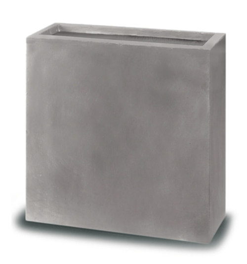 Ghiveci plante dreptunghi compozit fibra beton usor gri nisip 2 variante marimi 1