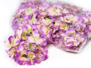 hortensia planta artificiala verde roz